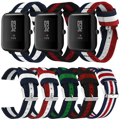Replacement Nylon Woven Bracelet Watch Band Strap For Xiaomi Huami Amazfit Bip
