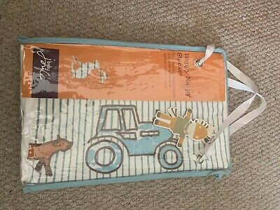 Joules On The Farm Cot Pockets And Matching Nappy Stacker BNIP