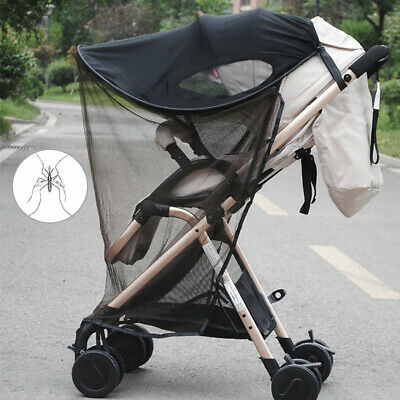 UV Sun Shade Canopy Cover & Mosquito Net For Baby Buggy Stroller Pram Seat UK NY
