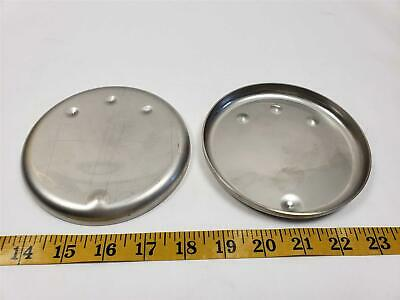 """Qty 2 5"""" Diameter 1/16"""" Wall Stainless Steel Tubing Cap Butt Weld Made in USA"""