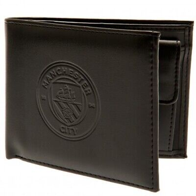 Manchester City Football Club Debossed Crest PU Wallet with Free UK P&P