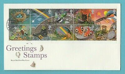 G.b.  Stamp  First  Day  Cover  -  Greetings  Booklet  -  5  February  1991