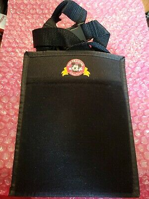 New Walt Disney World Parks Official Pin Trading Lanyard & Pouch Black