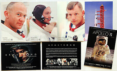 Apollo 11 & Armstrong Film Postcards - Neil Armstrong First Moon Landing