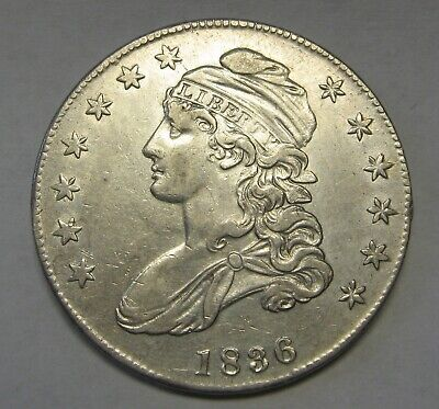 1836 Capped Bust Silver Half Dollar Grading AU Priced Right and Shipped FREE d24