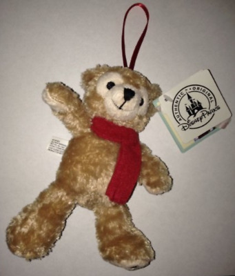 Disney Parks Mickey Mouse Duffy Bear Plush Holiday Ornament NEW