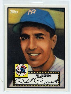 PHIL RIZZUTO 1952 TOPPS DESIGN 2010 TOPPS NY YANKEES 27 WORLD SERIES TITLES Sports Memorabilia, Fan Shop & Sports Cards Baseball Trading Cards