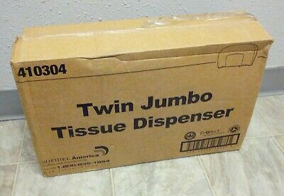 Sofidel 410304 JT209-05 9˝ Twin JBT Jumbo Tissue Dispenser - Black