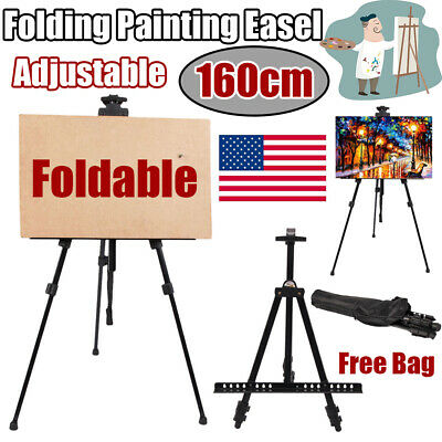 Foldable Drawing Easel Artist Adjustable Tripod Exhibition Poster Display Stand