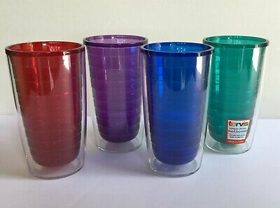 d90c8f70a50 Jewel Colors Set of 4 PK TERVIS TUMBLERS 16oz Insulated Double Walled Cup  MULTI