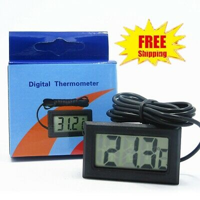 Lcd Digital Fish Aquarium Water Tank Thermometer Temperature -50°C To +110°C New
