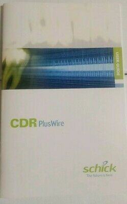Schick CDR Plus wire User Guide Dental Sensor Guide Book dentist milling xray
