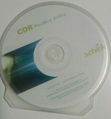 Schick CDR CD Software Dental Plus Wire Utility sensor disk only xray dentist