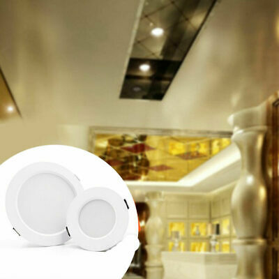 Dimmable LED Panel Downlight Recessed Ceiling Light 5W 9W 12W 15W Lamp Spotlight