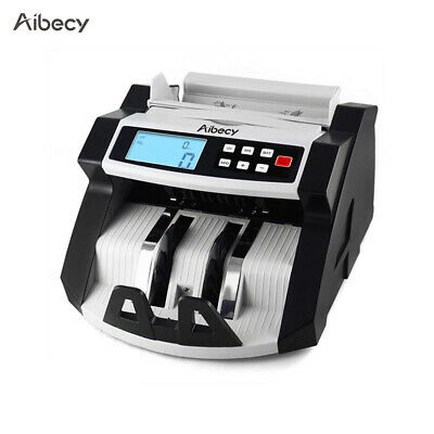Aibecy Currency Cash Banknote Bill Counter Register Counterfeit Detector UV C2G7