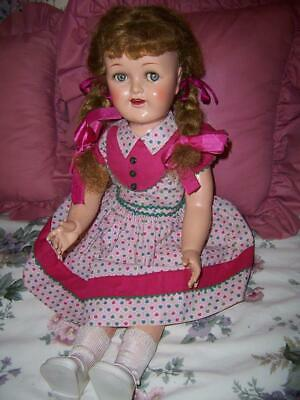Rare Vintage 1954 Big Sister 25'' Ideal Saucy Walker Doll All Original Outfit