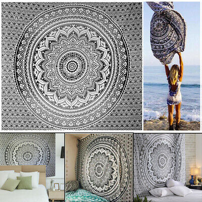 Large Indian Wall Hanging Tapestry Mandala Gypsy Hippie Bedspread Throw Cover UK