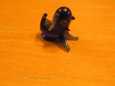Antique Miniature Cobalt and Opaque Italian Venetian Murano Art Glass Animal Dog