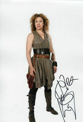 DR WHO - personally signed 12x8 ALEX KINGSTON as River Song