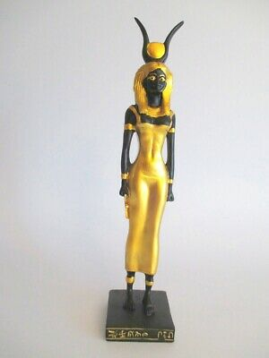 Isis Standing Figure Egypt 8 5/16in Polyresin Decor Egypt Black Gold