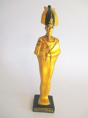 Osiris Figure Egypt 8 5/16in Polyresin Decor Egypt Golden