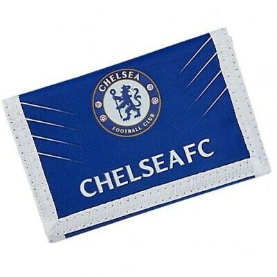 Chelsea Football Club Crest Blue & White Nylon Wallet SP Free UK P&P