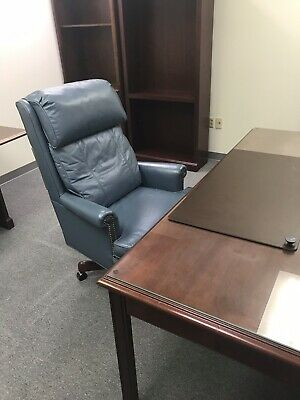 Antique Executive Chair Hickory Leather Company.