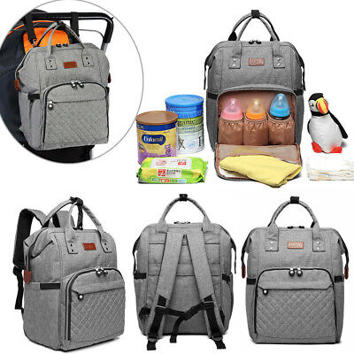 Women Travel Diaper Nappy Backpack Set Multi-Function Tote Baby Mummy Bag Ladies