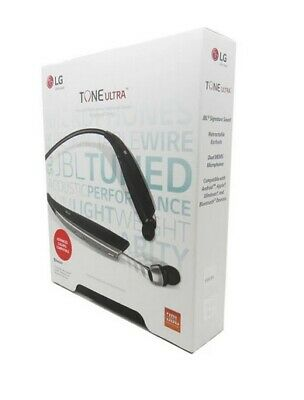 LG Tone Ultra HBS-820 Bluetooth Wireless Stereo Headset - Black With JBL Sound