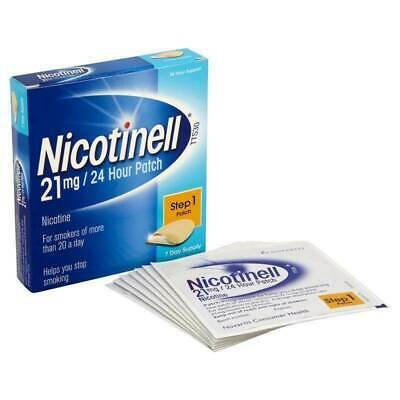 Nicotinell Step 1 - 21mg Patch - 7 Day Supply - 24 Hour Support Long Expiry Date