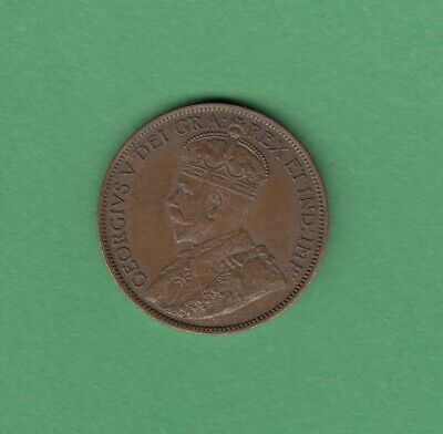 1912 Canadian Large One Cent Coin - AU