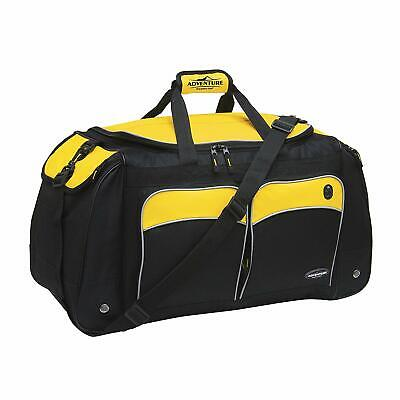 "Travelers Club 28"" ADVENTURE Travel and Outdoor Duffle Bag, Yellow Option"