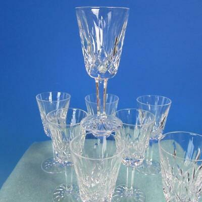 Waterford Crystal - Lismore Pattern - 8 Sherry Wine Glasses - 5 1/8 inches
