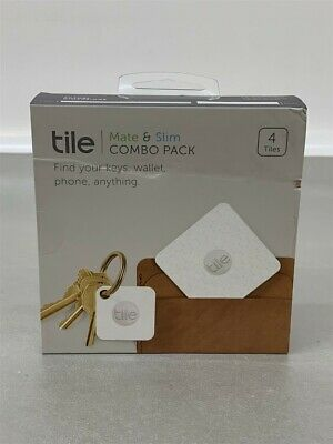 Tile Mate & Slim Combo Pack, Key/Wallet/Item Finder, 4-Pack RT-07004-NA