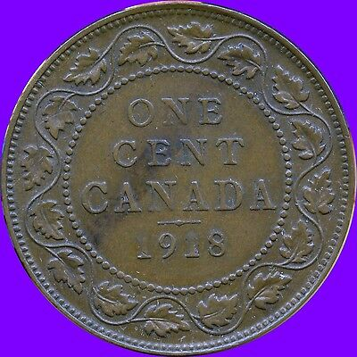 1918 Canada Large Cent Coins