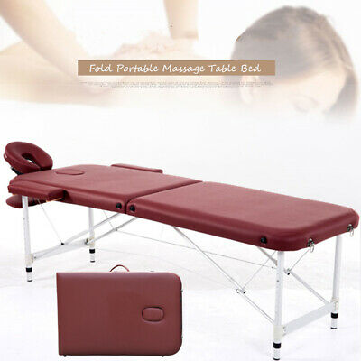 Aluminium 84''L Massage Table 2 Fold Height Adjustable Portable SPA Beauty Bed