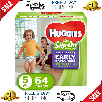 Huggies Little Movers Slip-On Diapers, Size 5, 64 Count