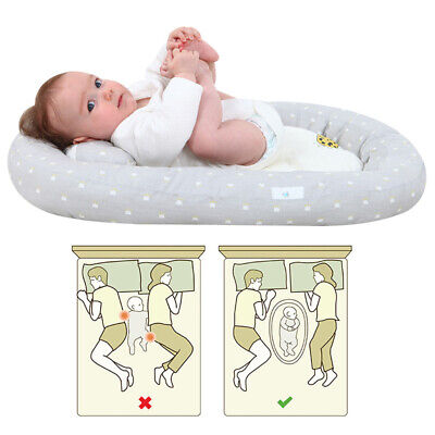 Newborn Baby Bassinet Bed Soft Lounger Crib Sleep Nest With Pillow Portable