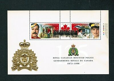 1998  #  1337b   VFNH TIMBRES CANADA  MINI SHEET STAMPS  RCMP 125th ANNIVERSARY