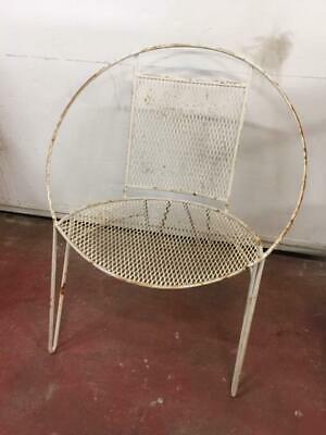 F31014 Vintage Retro Saucer Chair Outdoor Wrought Iron