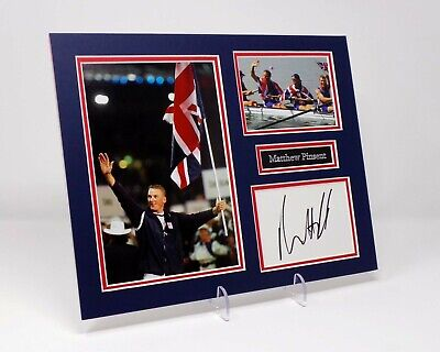 Matthew PINSENT Signed Mounted Photo Display AFTAL COA Olympic Gold Medal