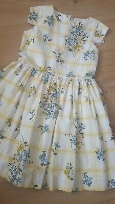Next Girls Yellow Floral Dress Age 10 Years In Immaculate Condition