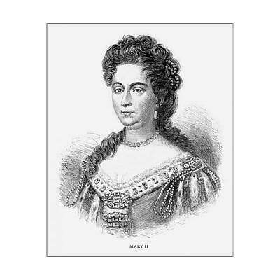 "15502263 10""x8"" (25x20cm) Print Mary II, Queen Mary II, English V..."