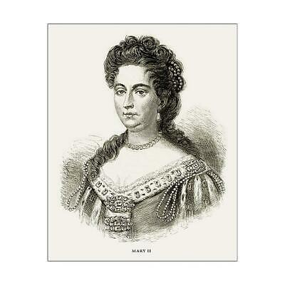 "15502215 10""x8"" (25x20cm) Print Mary II, Queen Mary II, English V..."