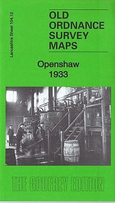 Old Ordnance Survey Map Openshaw 1933