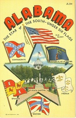 Alabama, The Star of the South, Under Six Flags