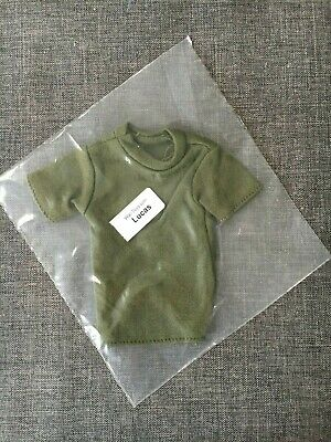 A318 1:6 Scale ace Vietnam Military action figure parts OD Green T shirt x 6