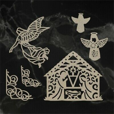 Couture Creations Naughty Or Nice Chipboard 6/pkg-away In A Manger