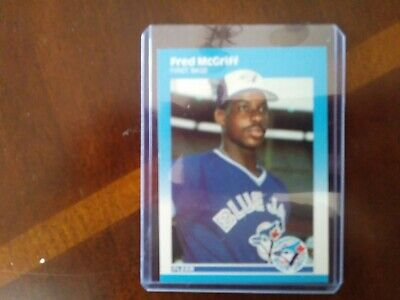 8 Fred Mcgriff Rookie Card Lot 1986 Donruss 1987 Fleer Glossy Topps