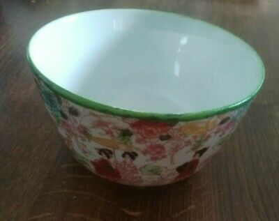 Japanese Rice Bowl (possibly hand painted) c1915